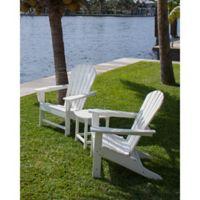POLYWOOD® South Beach 3-Piece Adirondack Set in White