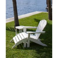 POLYWOOD® South Beach Outdoor Adirondack 3-Piece Set in White