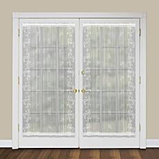 heritage lace sheer divine rod pocket door panel bed bath beyond. Black Bedroom Furniture Sets. Home Design Ideas