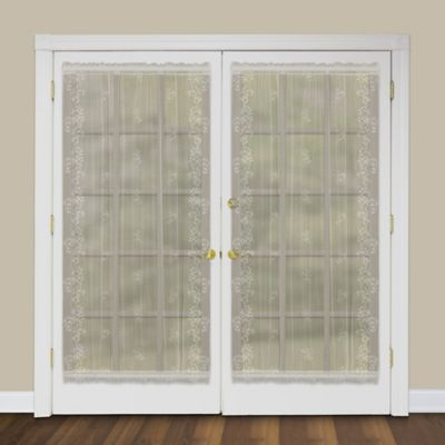 Great Heritage Lace® Sheer Divine 40 Inch Rod Pocket Door Panel In Flax