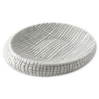 Kassatex Raffia Soap Dish in Grey