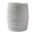 Kassatex Raffia Wastebasket in Grey