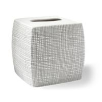 Kassatex Raffia Boutique Tissue Box Cover in Grey