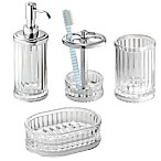 InterDesign® Alston Bath Accessories (Set of 4) in Clear