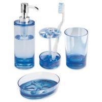 iDesign® Eva Bath Accessories (Set of 4) in Ocean Blue