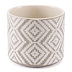 Zuo® Large Indio Planter in White/Grey