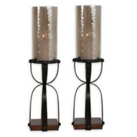 Uttermost Arka Candleholders in Gilded Dark Bronze (Set of 2)