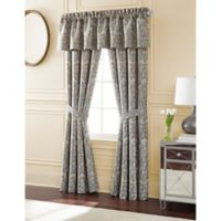 Rose Tree Dresden 84-Inch Rod Pocket Window Curtain Panel Pair in Spa