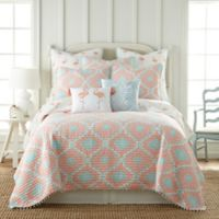 Levtex Home Flamingo Bay Reversible King Quilt in Pink/Blue