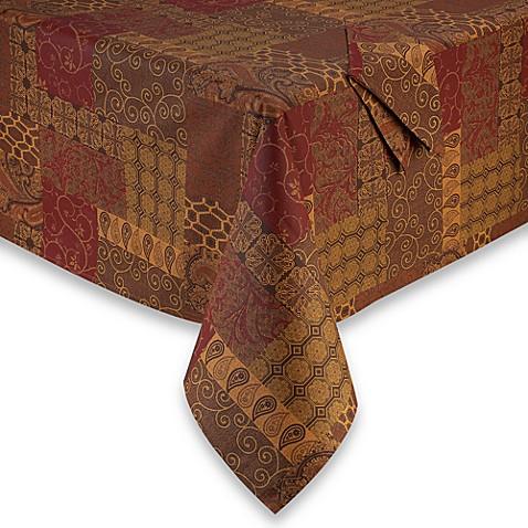 Valencia Laminated Fabric Tablecloth And Napkin Bed Bath