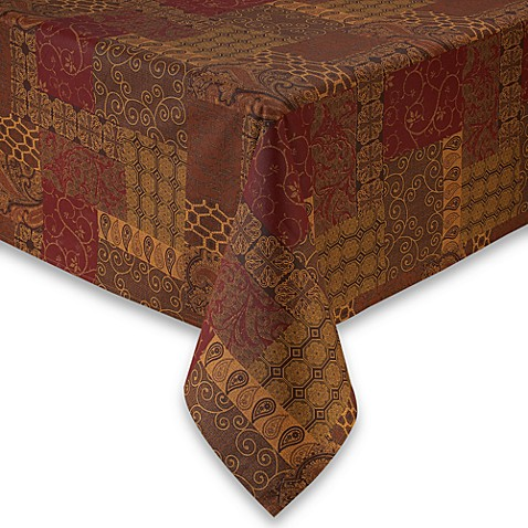 Valencia 60-Inch x 84-Inch Oval Laminated Fabric Tablecloth