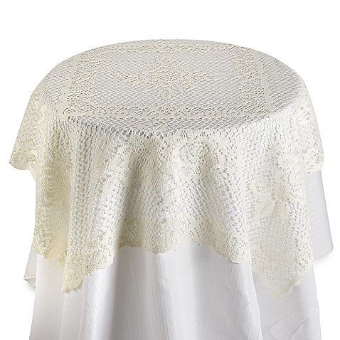 Verona Lace Square Table Topper Bed Bath Amp Beyond