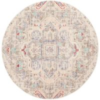Safavieh Windsor Harper 6-Foot Round Area Rug in Light Grey