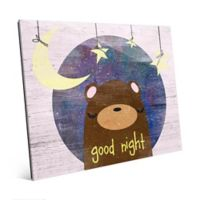 "Astra Art ""Good Night"" 11-Inch x 14-Inch Acrylic Wall Art in Pink"