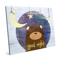"Astra Art ""Good Night"" 11-Inch x 14-Inch Acrylic Wall Art in Blue"