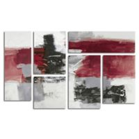 Trademark Fine Art Action II Red/Black Multi Panel Art Set