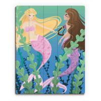 Astra Art Mermaids 11-Inch x 14-Inch Wood Wall Art