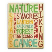 Astra Art Camping Memories 14-Inch by 11-Inch Wood Wall Art