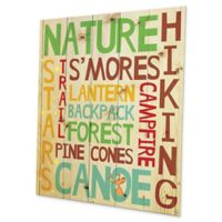 Astra Art Camping Memories 20-Inch x 24-Inch Metal Wall Art