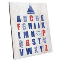 Astra Art Nautical Alphabet 14-Inch by 11-Inch Acrylic Wall Art