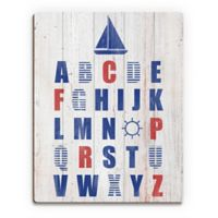 "Astra Art ""Nautical Alphabet"" 11-Inch x 14-Inch Canvas Wall Art"