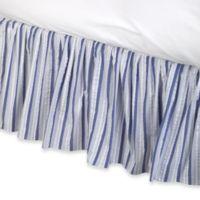 Multi Blue Stripe Twin Bed Skirt