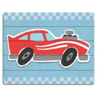 Astra Art Red Race Car 11-Inch by 14-Inch Wood Wall Art