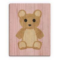 Astra Art Teddy Bear Candy 14-Inch x 11-Inch Wood Wall Art