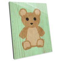 Astra Art Teddy Bear Spring 14-Inch x 11-Inch Acrylic Wall Art