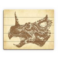 Astra Art Triceratops 11-Inch x 14-Inch Wood Wall Art