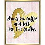 "Linden Ave ""Bring Me Coffee"" 8-Inch x 10-Inch Shadowbox Wall Art"