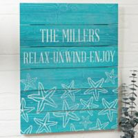 Coastal Home Large Wooden Slat Sign
