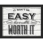 """Worth It"" 11-Inch x 14-Inch Shadowbox Wall Art"