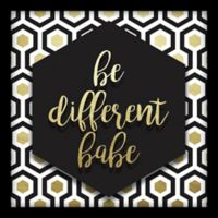 "Linden Ave ""Be Different Babe"" 10-Inch Square Shadowbox Wall Art"