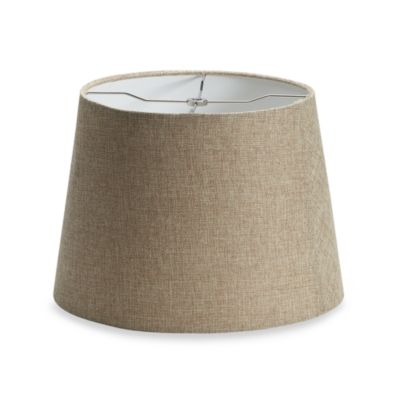 Buy medium lamp shade from bed bath beyond mix match medium 14 inch linen drum lamp shade in tan audiocablefo