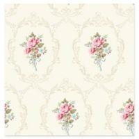 Fine Décor Camellia Floral Cameo Wallpaper in White