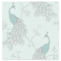 Brewster Home Fashions Phasia Peacock Wallpaper in Seafoam
