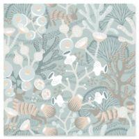 Swedish Patterns Korall Meadow Wallpaper in Teal