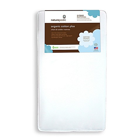 Naturepedic 174 Organic Cotton Plus Crib Mattress Buybuy Baby