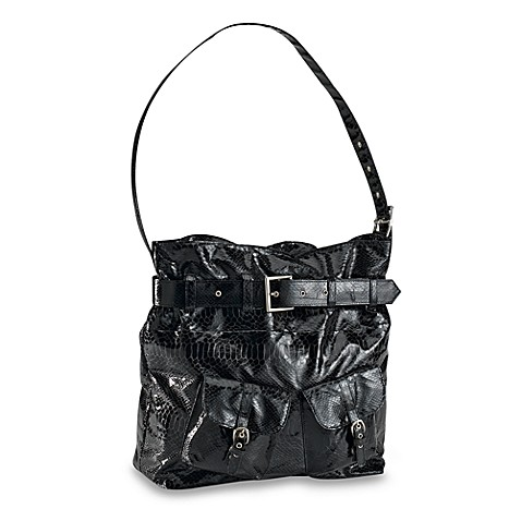 black snakeskin black diaper bag from diaper dude from buy buy baby. Black Bedroom Furniture Sets. Home Design Ideas