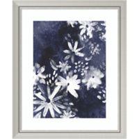 Amanti Art Indigo Floral Gesture I 28-Inch x 34-Inch Framed Wall Art