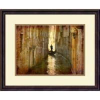 Amanti Art Vintage Gondolier 22-Inch x 18-Inch Framed Wall Art