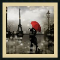 Amanti Art Paris Romance 34-Inch Square Framed Wall Art