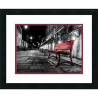 Amanti Art Night Bench 22-Inch x 18-Inch Framed Wall Art