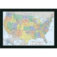 Amanti Art 2016 United States Map, Classic 39-Inch x 27-Inch Framed Wall Art