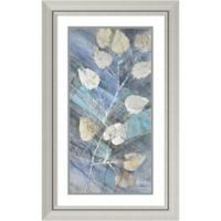 Amanti Art Silver Leaves II 20-Inch x 32-Inch Framed Wall Art