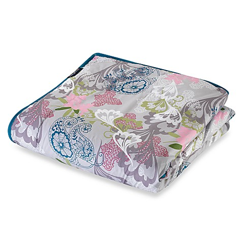 Berkshire Blanket 174 Anywhere Reversible Throw Floral
