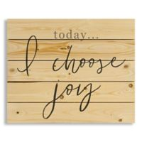 "Designs Direct ""Today I Choose Joy"" 22-Inch x 18-Inch Pallet Wood Wall Art"