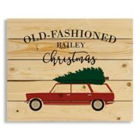 "Designs Direct ""Old Fashioned Christmas"" 22-Inch x 18-Inch Pallet Wood Wall Art"