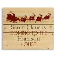 "Direct Designs ""Santa Claus is Coming"" 22-Inch x 18-Inch Pallet Wood Wall Art"